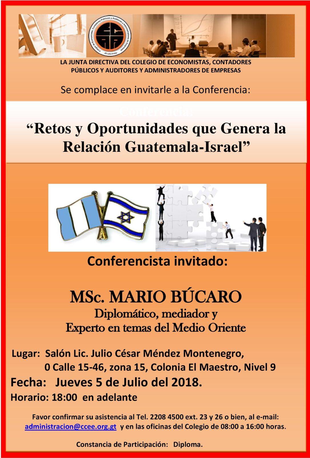 Salón Lic. Julio César Méndez Montenegro 0 calle 15-46, zona 15, Colonia el maestro, Nivel 9 Jueves 5 de Julio 2018 Horario: 18:00 en adelante