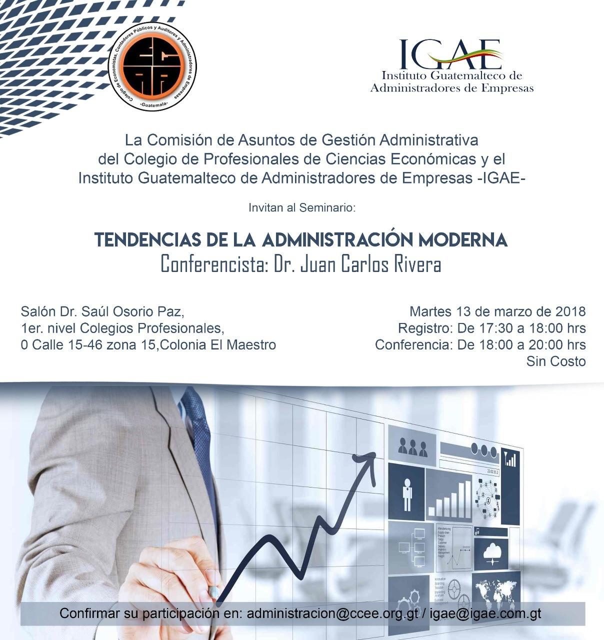Martes 13 de Marzo 2018, Salón Dr. Saúl Osorio Paz 1er Nivel Colegio de Profesionales