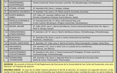 CONVOCATORIA PARA ASAMBLEA GENERAL EXTRAORDINARIA, PARA ELEGIR AL CUERPO ELECTORAL UNIVERSITARIO.