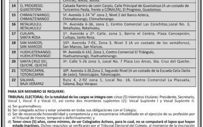 CONVOCATORIA PARA ASAMBLEA GENERAL EXTRAORDINARIA DEL 27 DE FEBRERO 2019