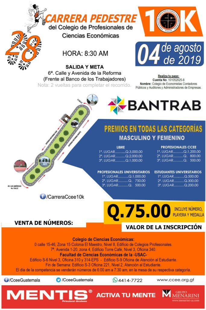 Afiche Carrera Pedestre 2019