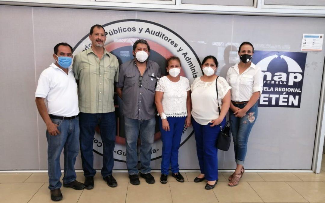 Visita a instalaciones de la Subsede del Colegio de Profesionales de Ciencias Económicas de Petén